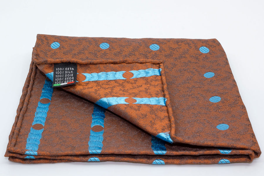 Pocket Square - Orange/Blue