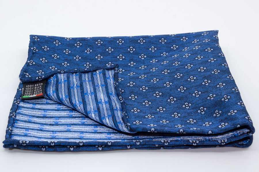 Pocket Square - Floral/Blue