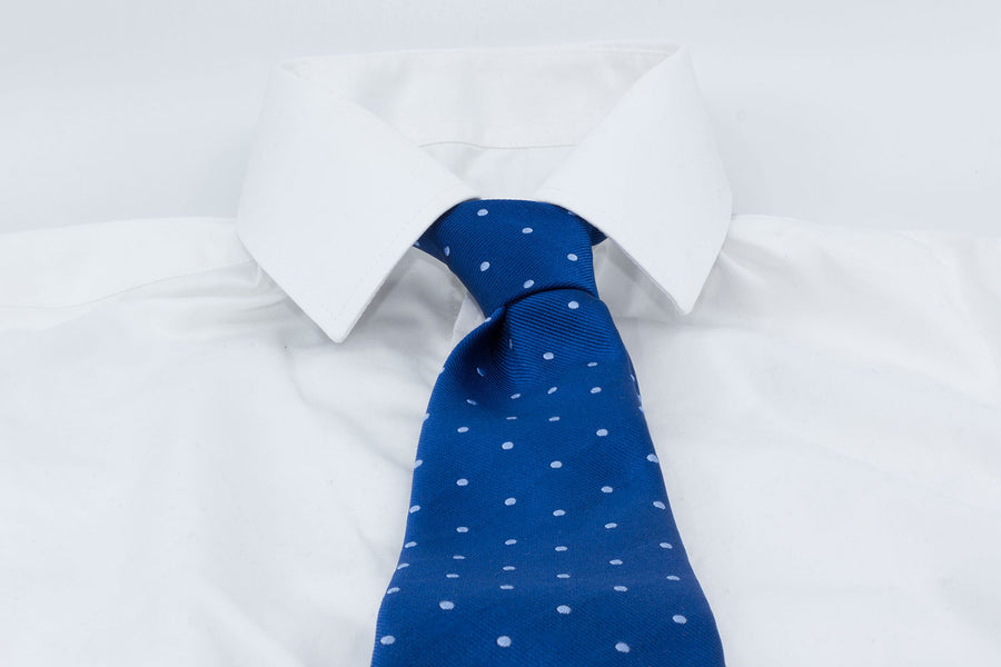 3-Fold Tie - Azure/Light blue
