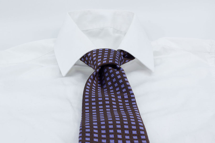 3-Fold Tie - Chocolate/Purple - Another Dandy
