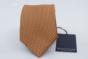 3-Fold Tie - Orange/White