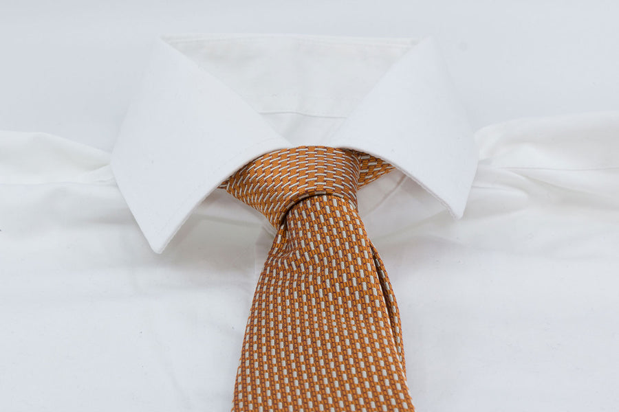 3-Fold Tie - Orange/White - Another Dandy