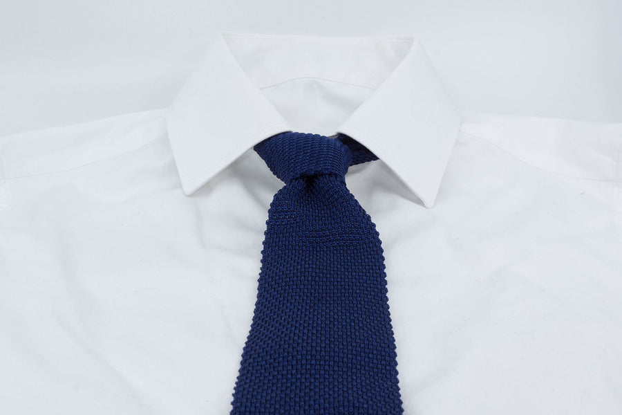 Tricot Tie - Blue - Smaller Mesh - Another Dandy