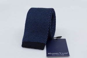 Tricot Tie - Blue/Black - Another Dandy
