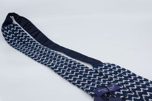 Tricot Tie - Blue/White - Zigzag - Another Dandy