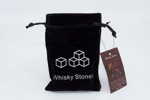 Natural Whisky Stones 9-pack - Dark grey