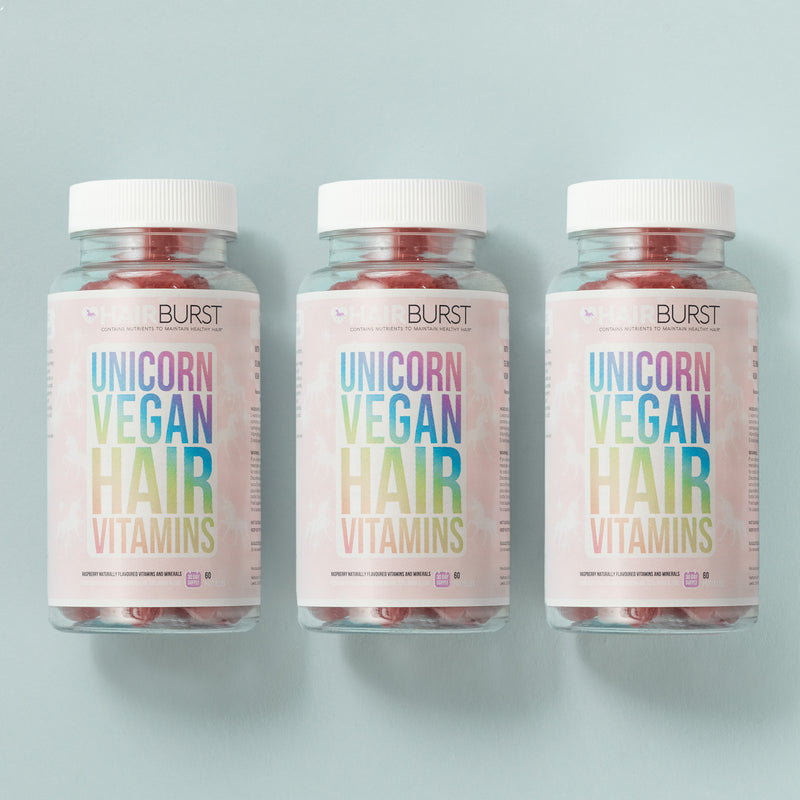 HAIRBURST UNICORN VEGAN HAIR GROWTH VITAMINS 3 Month Supply