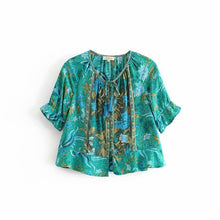 Boho 'Sea Queen' Short Sleeve Blouse