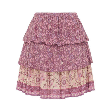 BoHo Frilled Mini Skirt