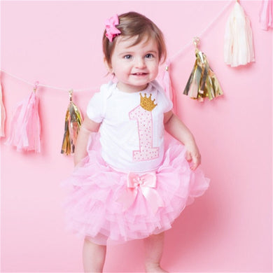 3 Piece Birthday Outfit with Headband