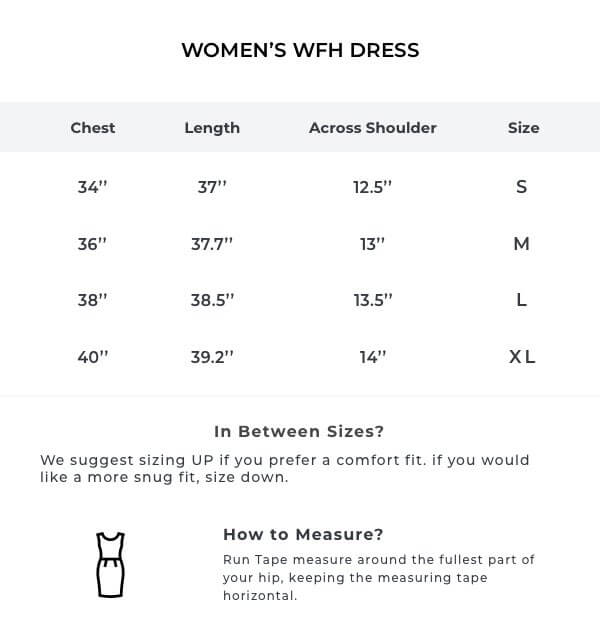 The Black Printed WFH A-Line Dress Size Guide