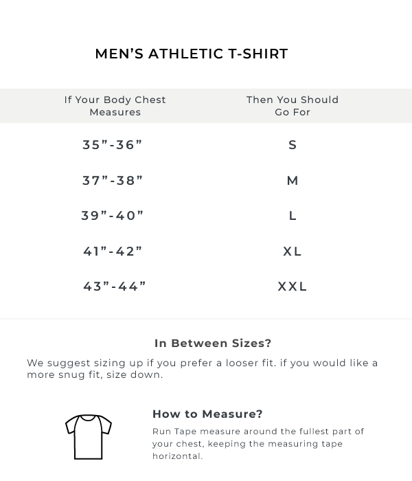 The Raglan Sleeve Athletic Tee - Royal Blue Size Guide