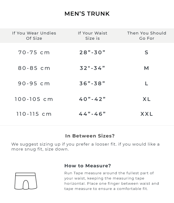 The Green Elastic Checked Size Guide