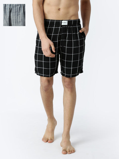 Bareblow Pack of 2 Stripe + Check Boxers