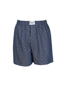 Dots on Blue Denim Boxer Shorts