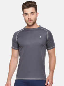 Raglan Sleeve Athletic Tee - Cool Grey