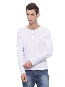 Bareblow Long Sleeve White Henley