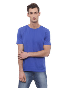 Bareblow T-Shirt With Crew Neck in Royal Blue