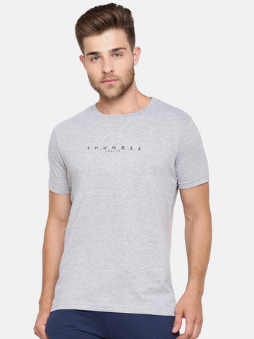 The Grey Melange Crew Tee
