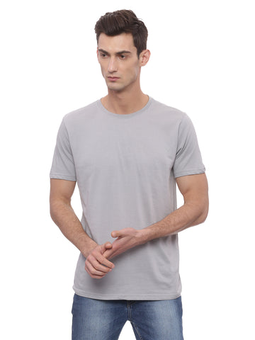 Bareblow T-Shirt with Crew Neck in London Grey