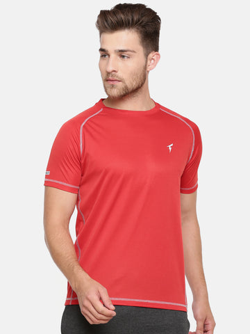 Raglan Sleeve Athletic Tee - Red