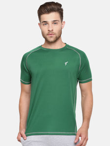 Raglan Sleeve Athletic Tee - Topaz Green
