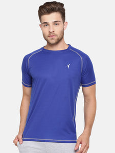 Raglan Sleeve Athletic Tee - Royal Blue