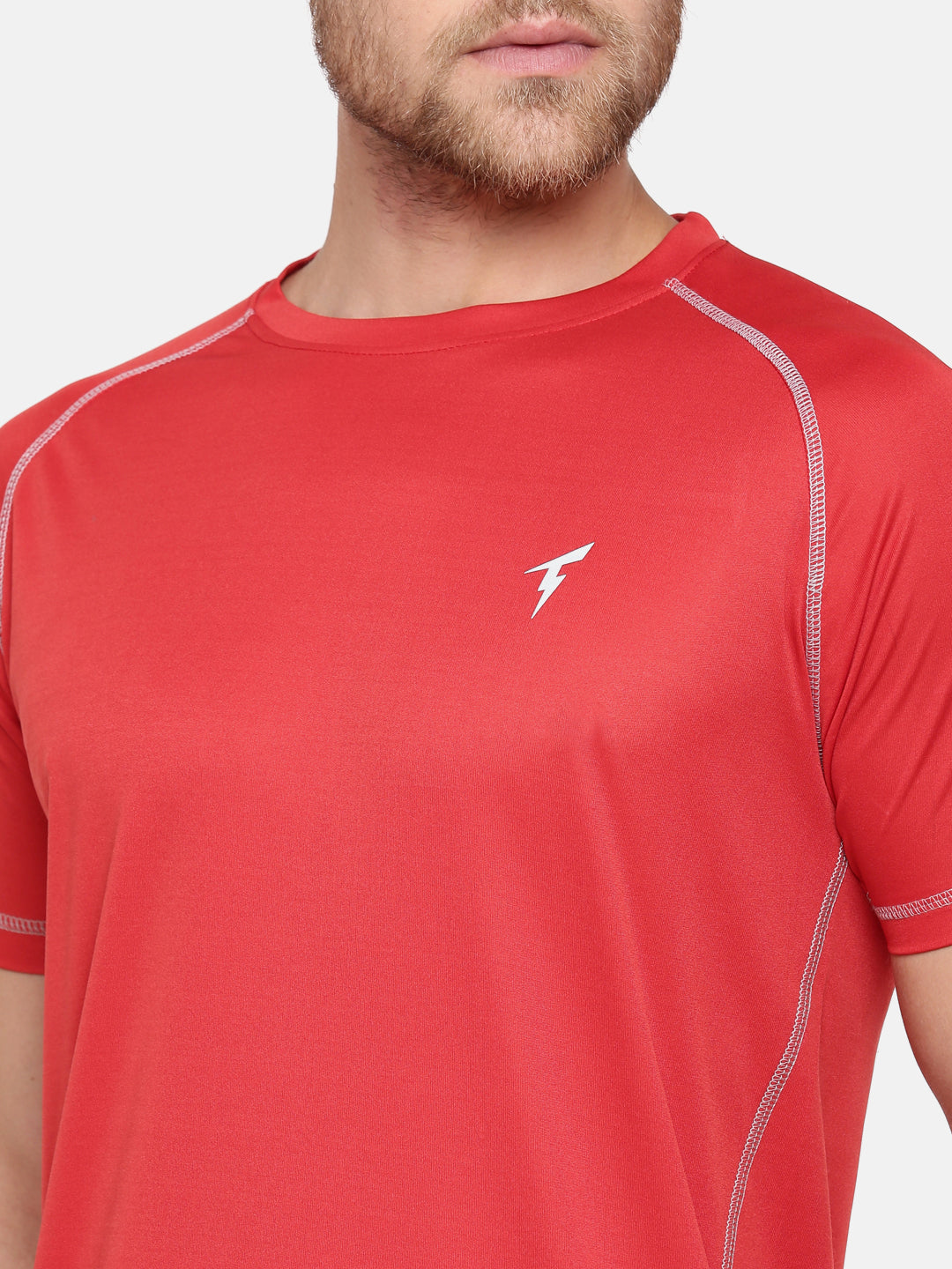 The Raglan Sleeve Athletic Tee - Red