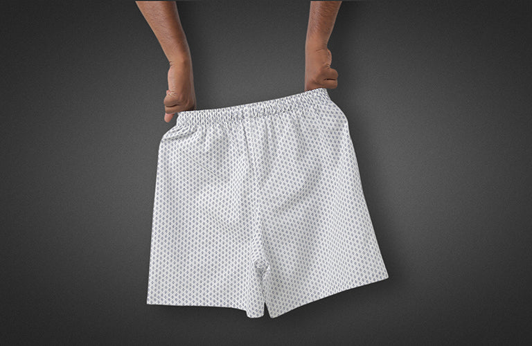 The Bed White And Blues Boxer