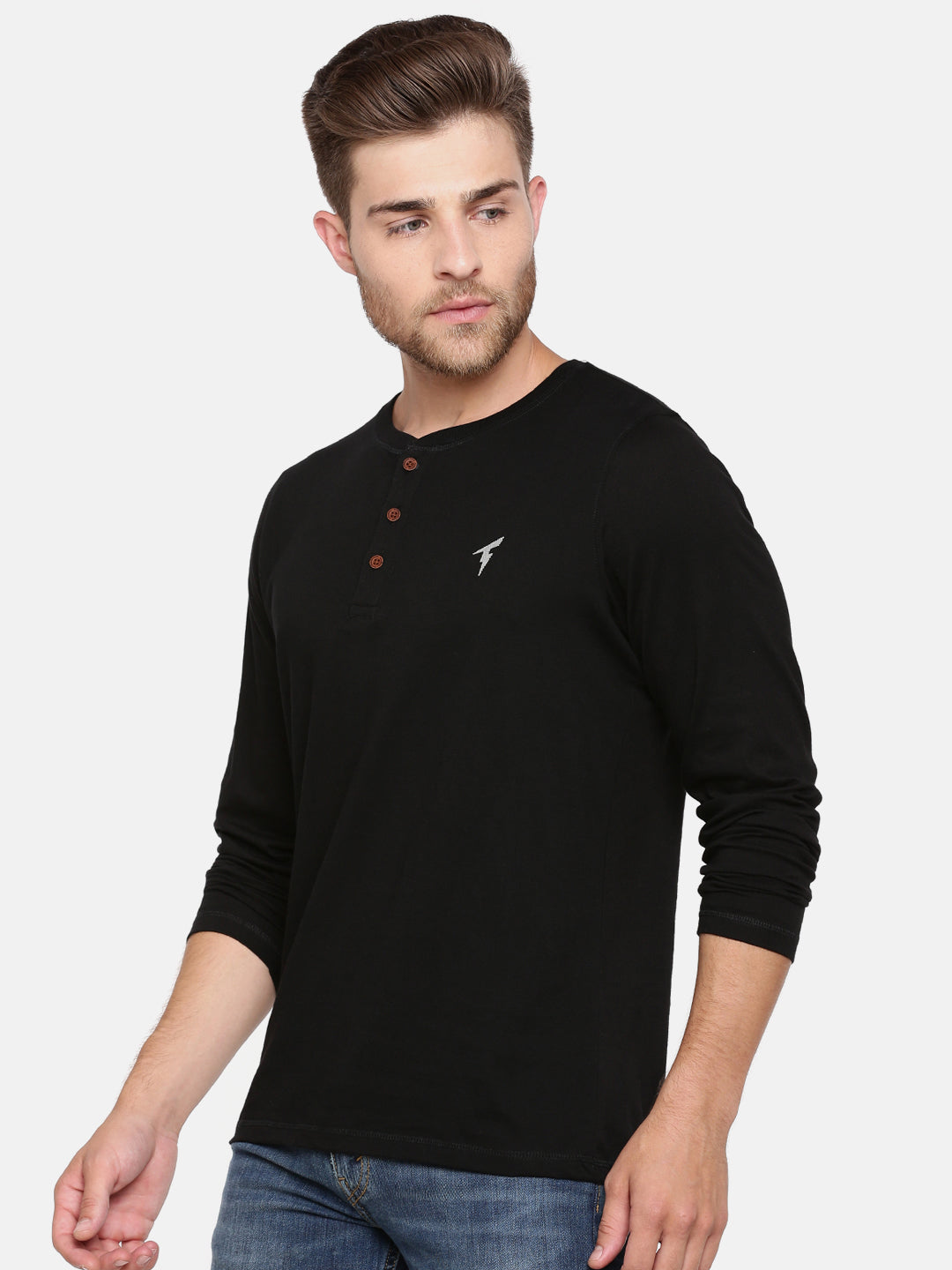 The Long Sleeve Black Henley