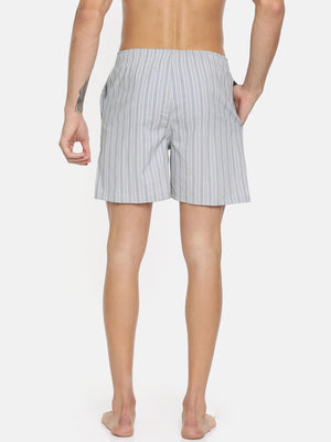 Bareblow Grey and White Striped Boxer