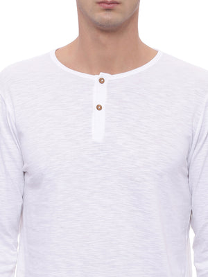 The Long Sleeve White Henley