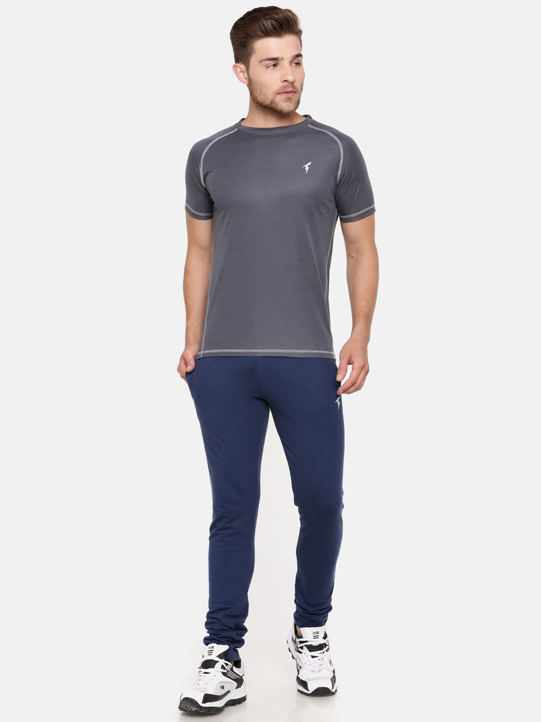 The Raglan Sleeve Athletic Tee - Cool Grey
