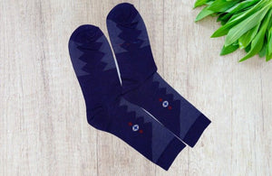 Bareblow MERINO WOOL CALF Socks Blue White