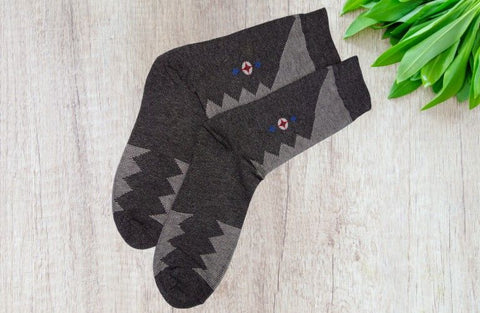 Bareblow DRESS CALF SOCK Socks Grey