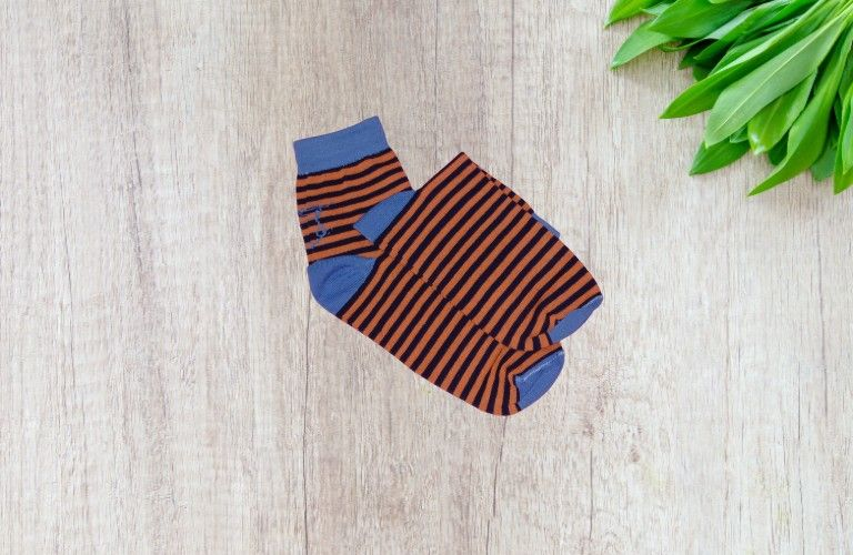 Bareblow Ankle Sock Orange Striper