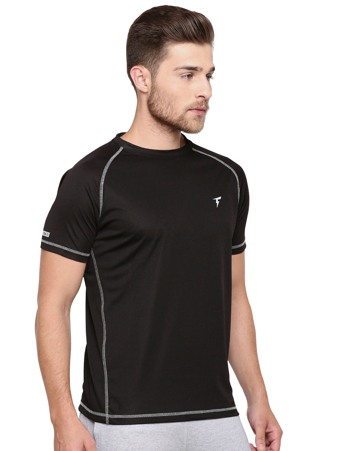 The Raglan Sleeve Athletic Tee - Black