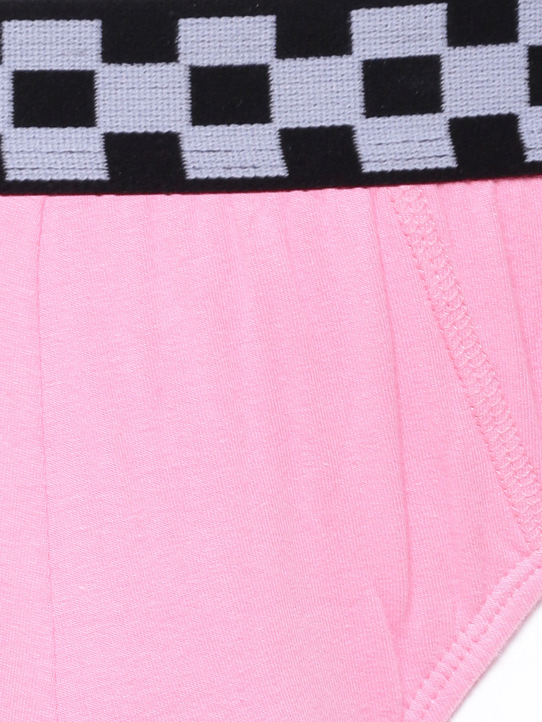 The Flamingo Pink with Racing Flag Briefs