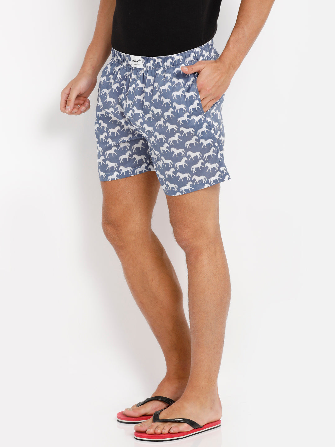 Bareblow Boxers with Horse Print