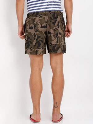 Bareblow Boxer Shorts with Wild Army Print