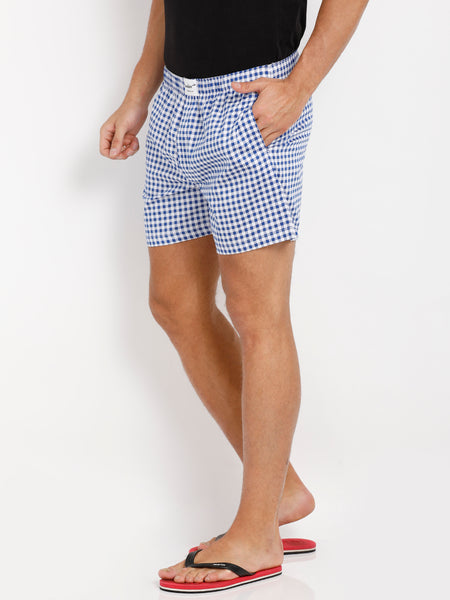 Bareblow Boxers in Gingham Check