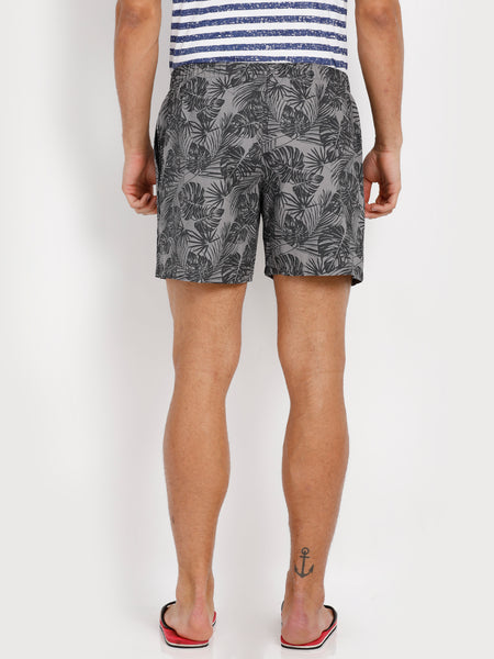 Bareblow Woven Boxers with Tropical Print