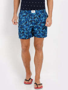 Bareblow Boxers with Midnight Blue Army Print