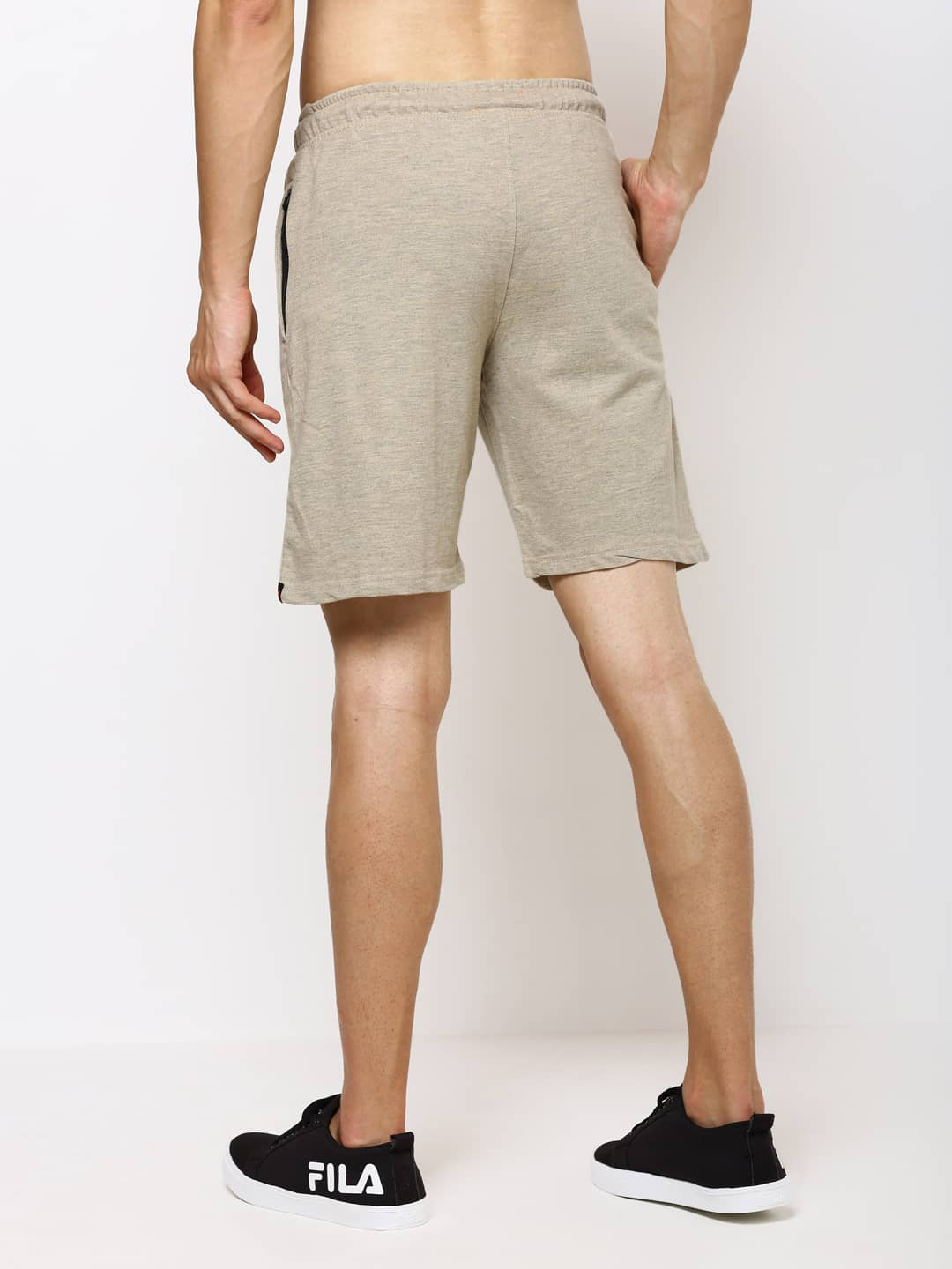 The Agreeable Beige Easy Shorts