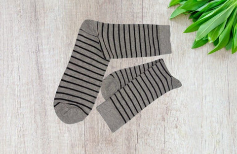 Bareblow  Calf Sock Black Striper