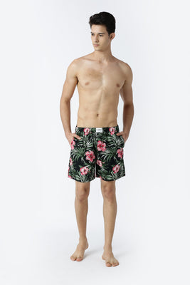 Fresh Cucumber with Wild Lily Printed Boxer Shorts - 2 Pack