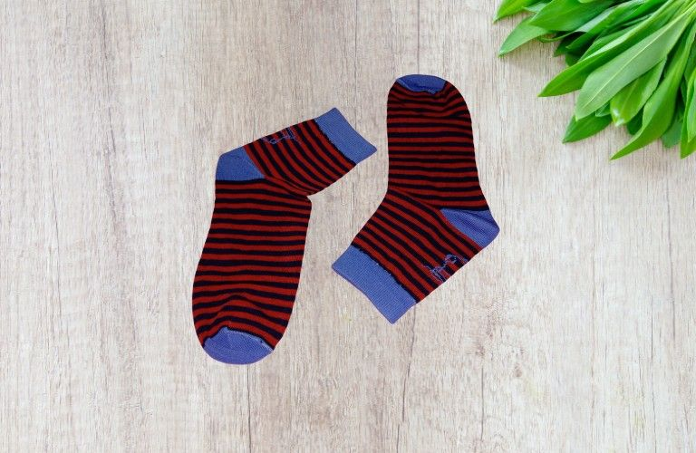 Bareblow Ankle Sock Red Striper