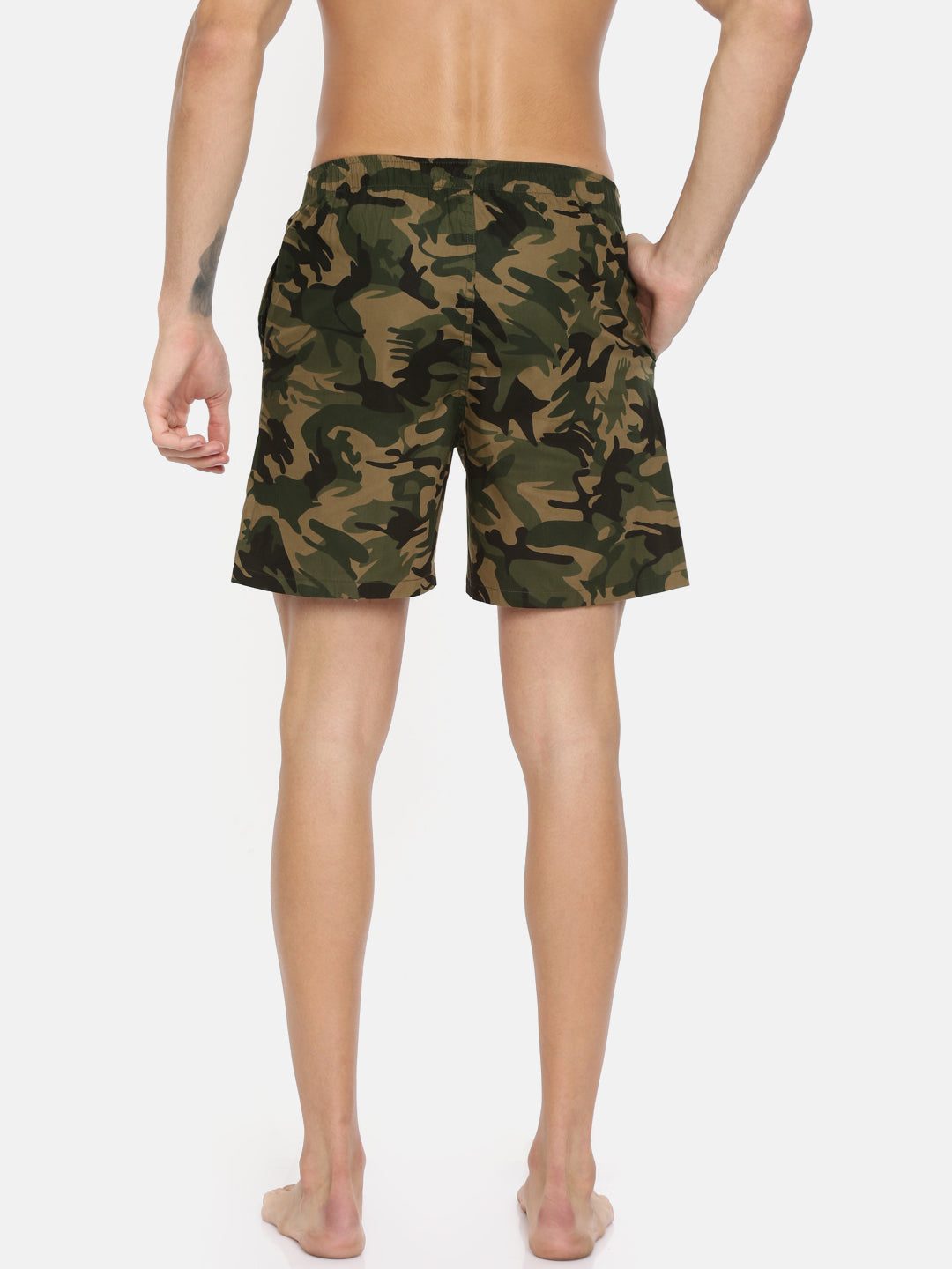 Bareblow New Army Green Camo Printed Boxer