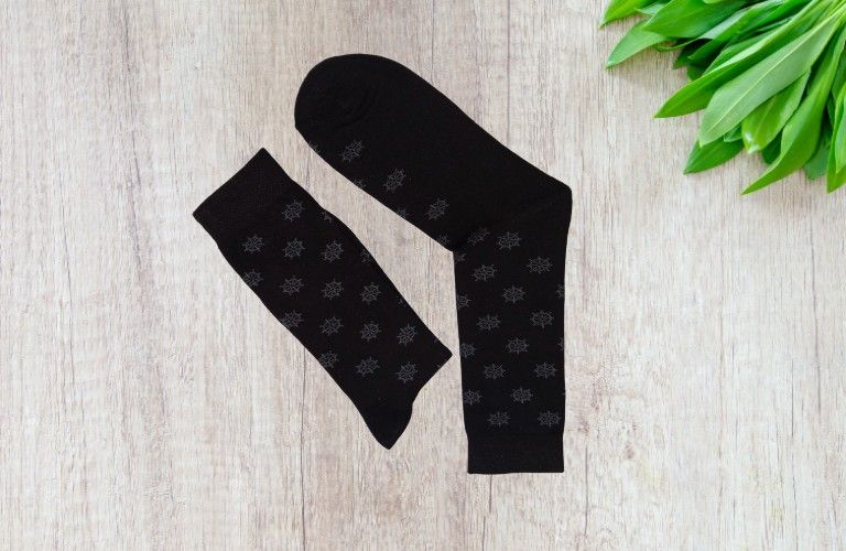Bareblow SPACE DYE ORIGINALS CALF Socks Black