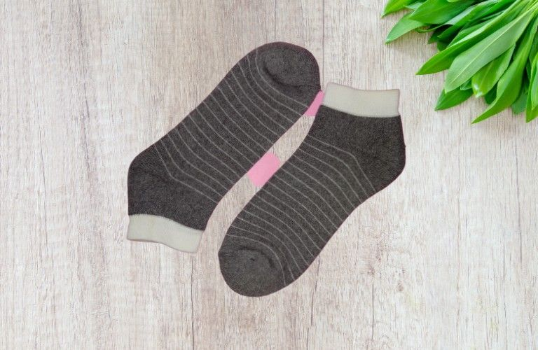 Stripe Dream Quarter Socks - Grey